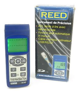 Reed Sd 947 4 channel Thermocouple Thermometer Data Logger 0 4 Accuracy