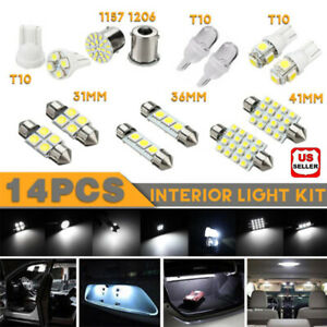 14pcs set Led Interior Package Kit For T10 36mm Map Dome License Plate Lights Us