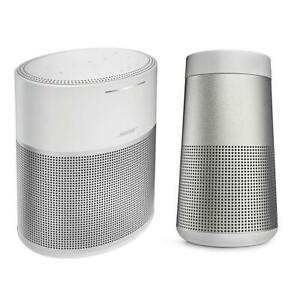 Bose Home Speaker 300Silver WBose SoundLink Revolve Bluetooth SpeakerLux Gray
