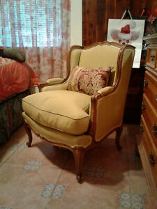 Vintage French Louis Xv Bergere Chair With Down Cushion Free Local Pickup