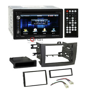 Power Acoustik Dvd Usb Bt Grey Stereo Dash Kit Harness For 09 13 Toyota Corolla