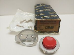 New Old Stock Honeywell Micro switch Red Push Button Switch Actuator 12ma6