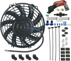 9 Inch Electric Radiator Cooling Fan 12 Volt 8an Hose Thermostat Control Kit