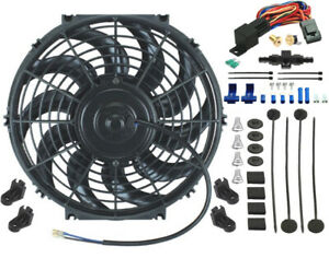 12 Inch Electric Radiator Fan 8an In line Coolant Hose Thermostat Switch Kit
