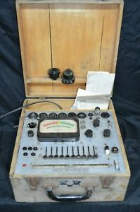 Precision Apparatus 612 Vacuum Tube Battery Tester W Adapters Power Tested