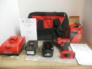 Snap On 3 8 18v Ni cad Compact Impact Wrench Kit Ct4418 W Battery Charger Bag