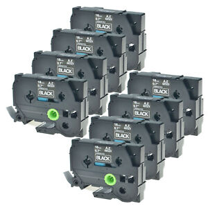 8pk Tz345 Tze345 White On Black Label Tape 3 4 For Brother P touch Pt 4000
