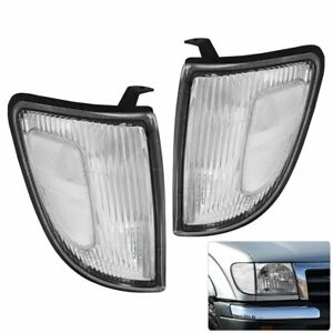 Clear Front Bumper Corner Lights Replacement For 97 2000 Toyota Tacoma 2wd Truck