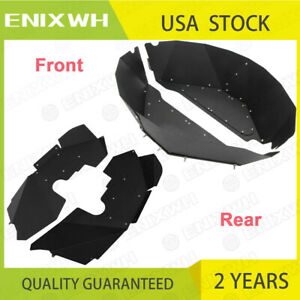 Front Rear Inner Fender Liners Fit For 07 17 Jeep Wrangler Jk Jku 4wd 2 Pair