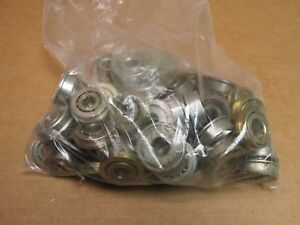Lot Of 63 Flange Unground Bearings 63 Pcs 7 Lbs Assorted Sizes