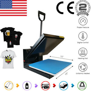 Clamshell 15 x15 Heat Press Machine Digital Sublimation Transfer Diy T shirt Us