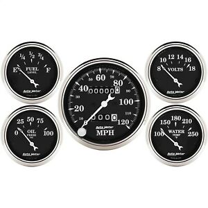 Autometer 1708 Gauge Set Street Rod Kit With Mechanical Speedometer