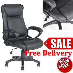 High Back Lumbar Support Office Big And Tall Ergonomic Leather Executive Chair
