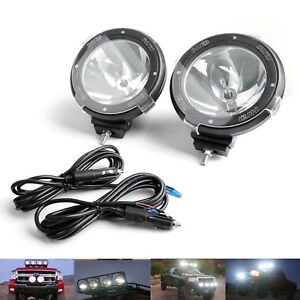Pair Hid Xenon Spot Beam Bulb Driving Off Road 7inch Working Light Lamp 6000k Cl