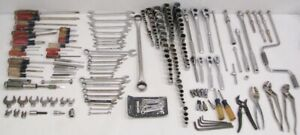Lot Of 208 Craftsman Hand Tools 11 Ratchets 44 Wrenches 90 Sockets No Duplicates
