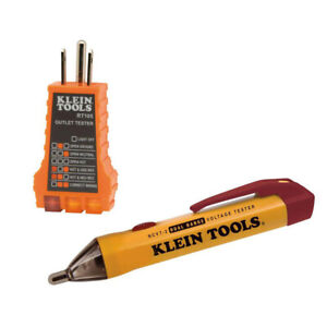 Klein Tools 12 1000 Digital Voltage Tester With Receptacle Tester
