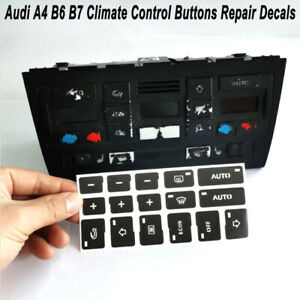 For Audi A4 B6 B7 2000 2008 Ac Climate Control Button Repair Decals Stickers