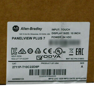 Allen Bradley 2711p t10c22d9p a Panelview Plus 7 Hmi Terminal Color Touch Panel