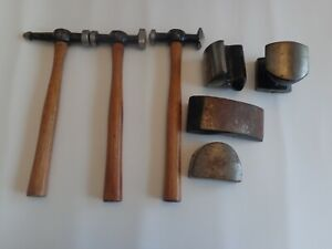 Vintage Complete Dent Repair Kit Auto Body Hammers And Anvils Car Repair Kit D