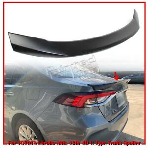 Painted For Toyota Corolla Altis 12th Sedan C Style Rear Trunk Spoiler 19 20
