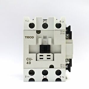 Teco Cu 40 Magnetic Contactor 60a 3 Phase 24v Coil 3a1a1b no And Nc