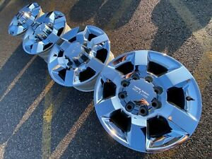 18 Gmc Sierra 2500 Hd Chrome Slt Denali Oem Factory Stock Wheels Rims 8x180 A