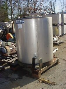 345 Gallon Stainless Steel Round Tank Tote Ibc