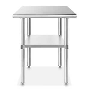 Stainless Steel 24 X 30 Nsf Commercial Kitchen Prep Work Table
