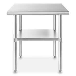 Stainless Steel 24 X 36 Nsf Commercial Kitchen Prep Work Table