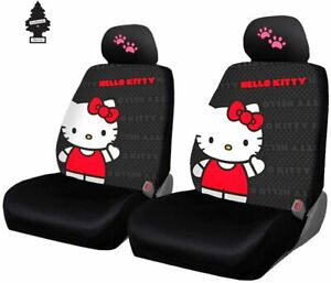 New Design Hello Kitty Core Car Seat Cover With Pink Paw Headrest Covers And Air