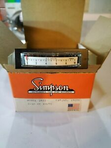 Vintage Nos Simpson 1622 0 10 Vdc Volts Dc Edgewise Edge view Panel Meter 18006