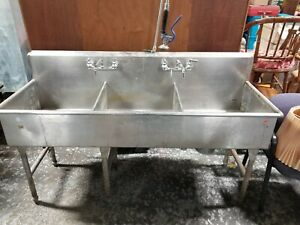 Commercial 3 Bay Stainless Steel Sink