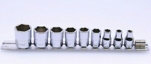 Snap On Tm 9 Pcs Set With Socket Holder Great Condition Please See Sizes Below