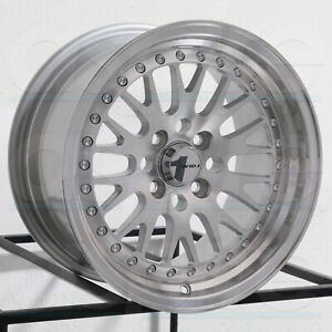 16x8 Avid1 Av12 Av 12 4x100 4x114 3 25 Silver Machined Wheels Rims Set 4