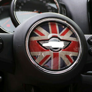 Union Jack Uk Car Steering Wheel Cover Sticker Fit Mini Cooper S F54 F55 F56 F60