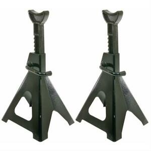 Summit Jack Stands 6 Tons Combined Steel Black Pair 918006