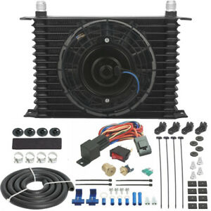 13 Inch Performance Transmission Oil Cooler 8 Electric Fan 3 8 Thermostat Kit