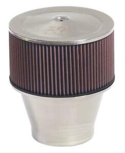2 K N Velocity Stack Air Cleaner 9 Dia Round Red Cotton Gauze Element 58 1191