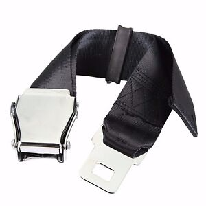 New 25 80cm Airplane Seat Belt Extender Aircraft Buckle Tough Simple Black