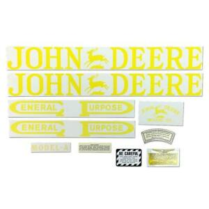 Fits John Deere A Unstyled Tractor Decal Set Mylar Cut Free Shipping