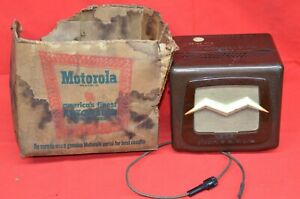 Vintage Motorola Model 504 Car Radio Dash Bulkhead Mount Speaker Tube Amp Nos
