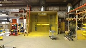 Industrial Paint Booth 12ft X 12ft X 10ft High With Led Lighting
