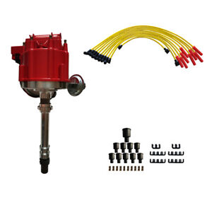 Hei Distributor For Chevy Sbc 350 Bbc 454 With Spark Plug Wires Set Gm08