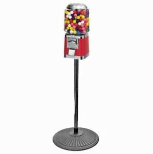 Classic Gumball Vending Machine On Cast Iron Stand