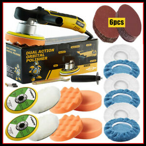 6 Dual Action Da Car Polisher Buffer Sander Electric Wax Machine Variable Speed