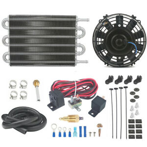 Transmission Oil Cooler Electric Fan Thermostat Switch Heavy Duty Trailer Towing