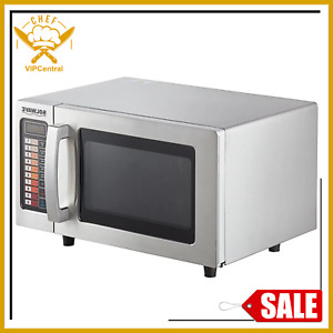 Durable Stainless Steel Commercial Microwave Oven Push Button Control 1000w 120v