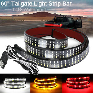 Led Tailgate Light Bar 60 Triple Row 5 Function Strip For Pickup Trailer Suv