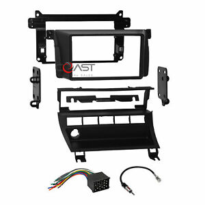 Car Radio Stereo 2din Dash Kit Harness For 99 06 Bmw M3 3 Series W Switch Panel