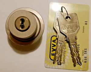 Evva 3ks Lock High Security Round Cylinder With Keys And Card New